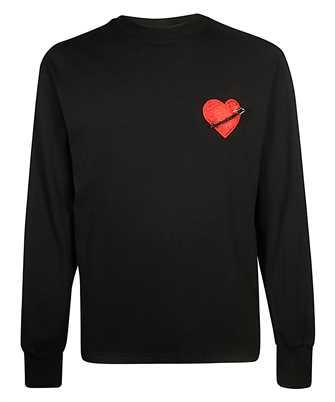 Palm Angels PMAB016F19413004 PIN MY HEART Sweatshirt
