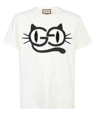 Gucci 615044 XJDGG CAT EYES PRINT COTTON JERSEY T-shirt