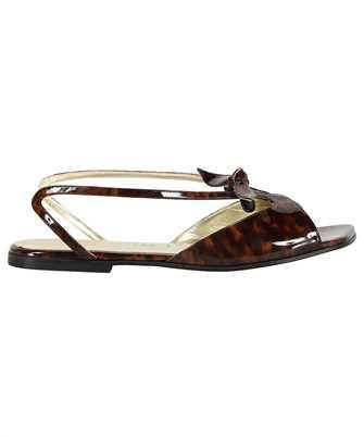 Lanvin FW SAGS06 TORT E21 TORTOISE PRINT PATENT CALFSKIN RITA Sandals