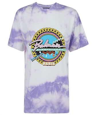 Balmain VF11558B503 OVERSIZED TIE-DYE T-shirt