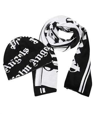 Palm Angels PMZG016F20KNI003 CLASSIC LOGO SET Sciarpa/Cappello