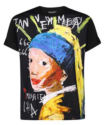 Neil Barrett BJT858S P501P GIRL WITH THE EARRING T-shirt