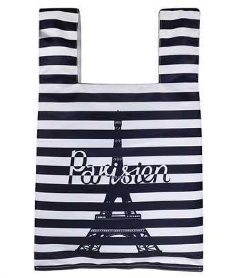 Maison Kitsune GU06125WQ40008 PARISIEN TOWER STRIPES NYLON Bag