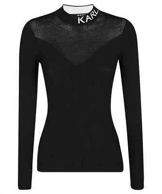 Karl Lagerfeld 206W2000 POINTELLE ROLL NECK Knit