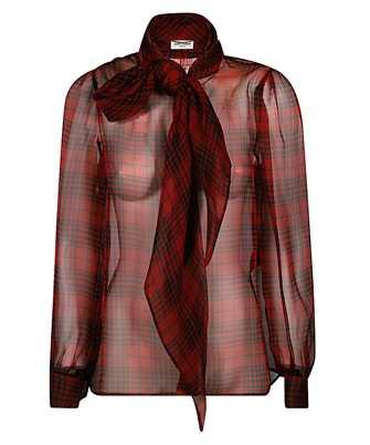 Saint Laurent 641585 Y8B86 LAVALLIERE-NECK Shirt