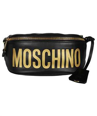 Moschino 7712 8001 LEATHER LOGO Gürteltasche