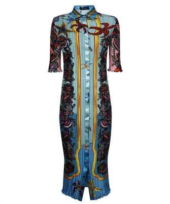 Versace A89232 1F01266 TRÉSOR DE LA MER PRINT PLEATED SHIRT Dress
