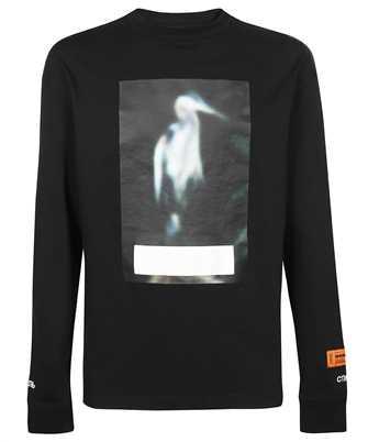 Heron Preston HMAB021F21JER004 REG LIGHT CENSORED LS T-shirt
