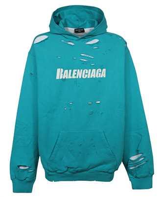 Balenciaga 659403 TKVB6 CAPS DESTROYED Kapuzen-Sweatshirt