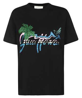 Gucci 580762 XJCRA HAWAII PRINT T-shirt