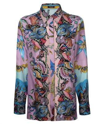 Versace A82662 1F00905 TRÉSOR DE LA MER PRINT SILK TWILL Shirt