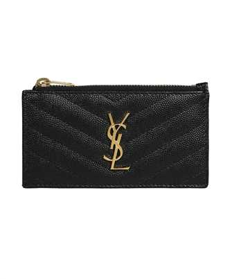 Saint Laurent 607915 BOW01 MONOGRAM FRAGMENTS ZIP Porta carte di credito