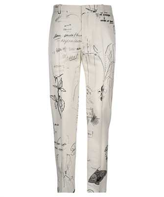 Alexander McQueen 649867 QQW69 SKETCHBOOK PRINTED CIGARETTE Trousers