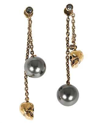 Alexander McQueen 651156 J160U PEARLY SKULL Earrings