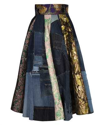 Dolce & Gabbana F4B2PD GDY73 PATCHWORK JACQUARD MINI Rock