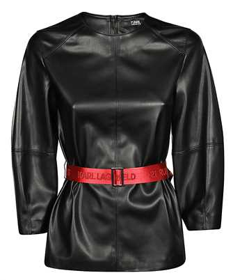 Karl Lagerfeld 201W1614 FAUX LEATHER Top