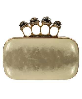 Alexander McQueen 583726 1YATT SPIDER JEWELLED FOUR-RING BOX Bag