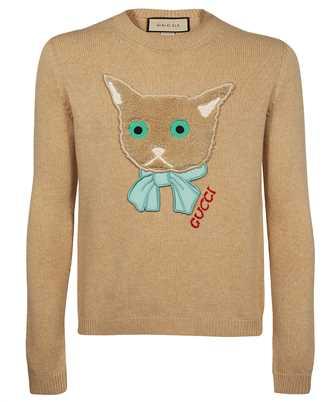 Gucci 662173 XKBYI CAT PATCH Knit