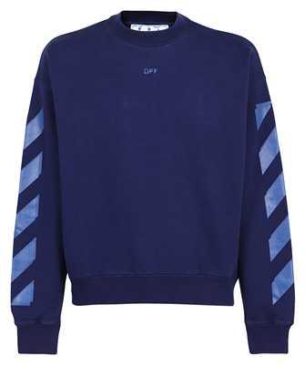 Off-White OMBA054F21FLE007 RUBBER ARROW SKATE CREWNECK Sweatshirt