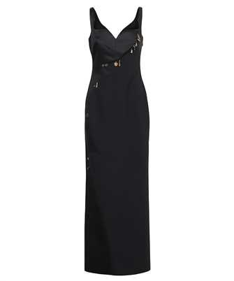 Versace 1001121 1A00940 CHARM-EMBELLISHED SATIN EVENING Dress