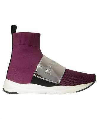 Balmain RN1C038TCZH RUNNING CAMERON-KNIT & MIRROR EFFECT LEA Sneakers