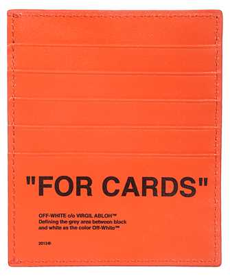Off-White OMND005F19F56035 BOLD QUOTE Card holder