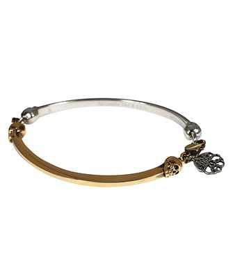 Alexander McQueen 630079 J160Z BI-COLOUR SKULL Bracelet