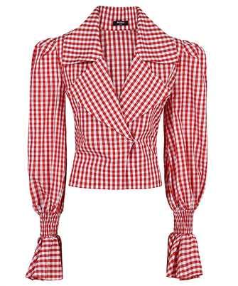 Balmain VF12699C280 GINGHAM-PRINT Shirt