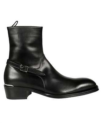 Alexander McQueen 575446 WHW81 BUCKLED Boots