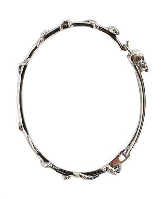 Alexander McQueen 663851 J160Y SKULL SAFETY PIN Bracciale