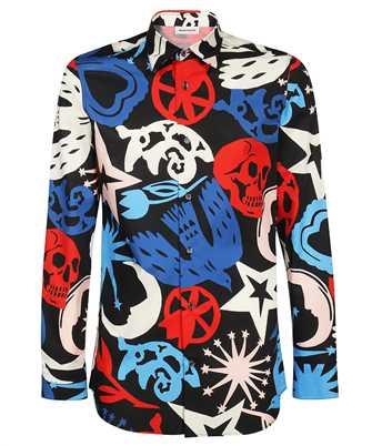 Alexander McQueen 666759 QRO32 PAPERCUT PRINT Shirt