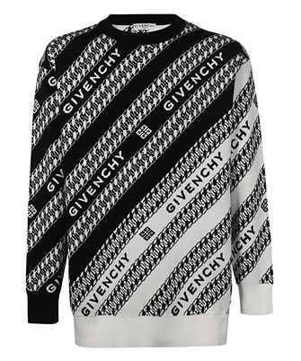 Givenchy BM90EZ4Y7A CHAIN LOGO-PRINT Sweatshirt