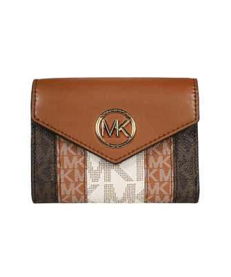 Michael Kors 34T1GNME6O CARMEN MEDIUM COLOR-BLOCK LOGO TRI-FOLD Wallet