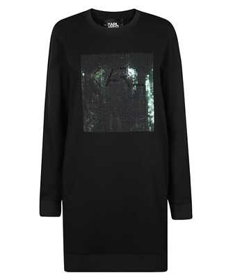 Karl Lagerfeld 210W1353 SEQUIN LOGO SWEATSHIRT Dress