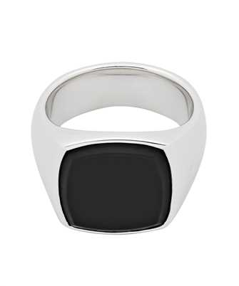 Tom Wood R74HP NW 01 CUSHION BLACK ONYX Ring