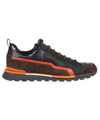 BERLUTI S5529 002 FAST TRECK SCRITTO LEATHER AND NYLON Sneakers