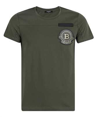 Balmain VH1EF007J039 EMBROIDERED BADGE T-shirt