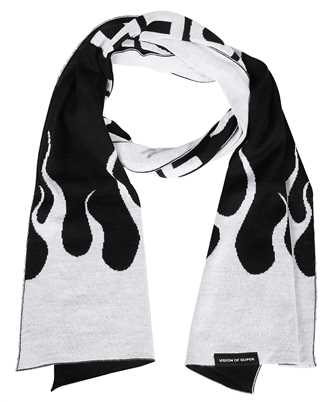 Vision Of Super SCARFFLWH WHITE FLAMES Scarf