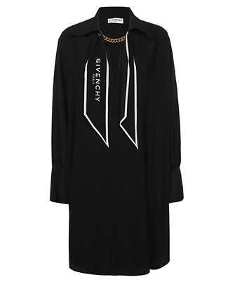 Givenchy BW213012EH SCARF-COLLAR SILK SHORT Dress