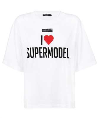 Dolce & Gabbana F8O48T FU7EQ I LOVE SUPERMODEL PRINT T-shirt