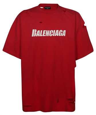 Balenciaga 651795 TKVB8 CAPS DESTROYED FLATGROUND T-Shirt
