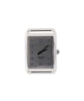 Tom Ford 20197080 CHROME DIAL 44X30 POLISHED STAINLESS STEEL Watch