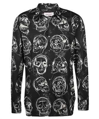 Alexander McQueen 630549 QPO42 PAINTED SKULL PRINT Camicia