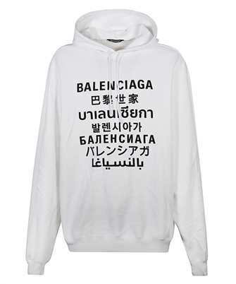 Balenciaga 641679 TJVI6 LANGUAGES Kapuzen-Sweatshirt