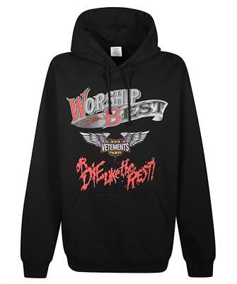Vetements UAH21TR588 WORSHIP THE BEST Hoodie