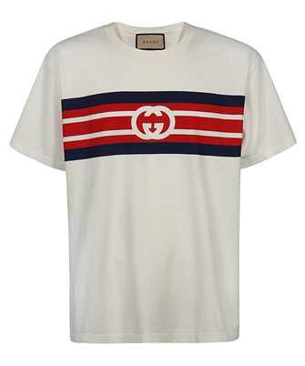 Gucci 616036 XJDAG INTERLOCKING G STRIPE PRINT T-shirt