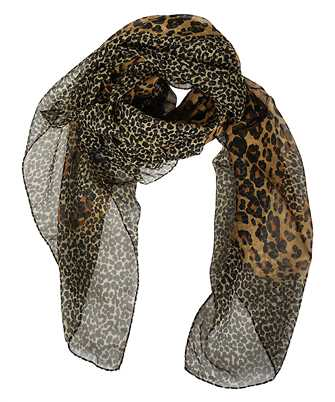 Saint Laurent 637102 3Y035 LEOPARD Scarf