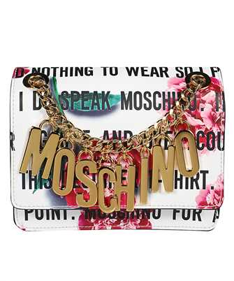 Moschino A7501 8023 SLOGAN & FLOWERS Bag