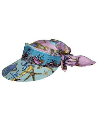 Versace ICAP025 1F00905 TRÉSOR DE LA MER PRINT SILK Hat
