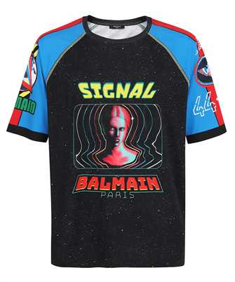Balmain WH0EH006G119 SPACIAL PRINTED 3/4 SLEEVES T-shirt